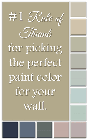 The 1 Rule Of Thumb For Picking The Right Paint Color For