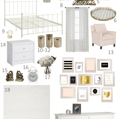 Pink and Gold Ethereal Teen Bedroom