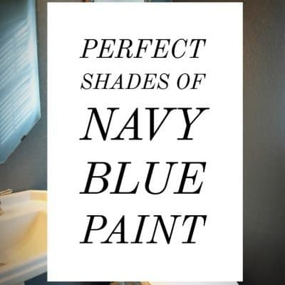 Perfect Shades of Navy Blue Paint