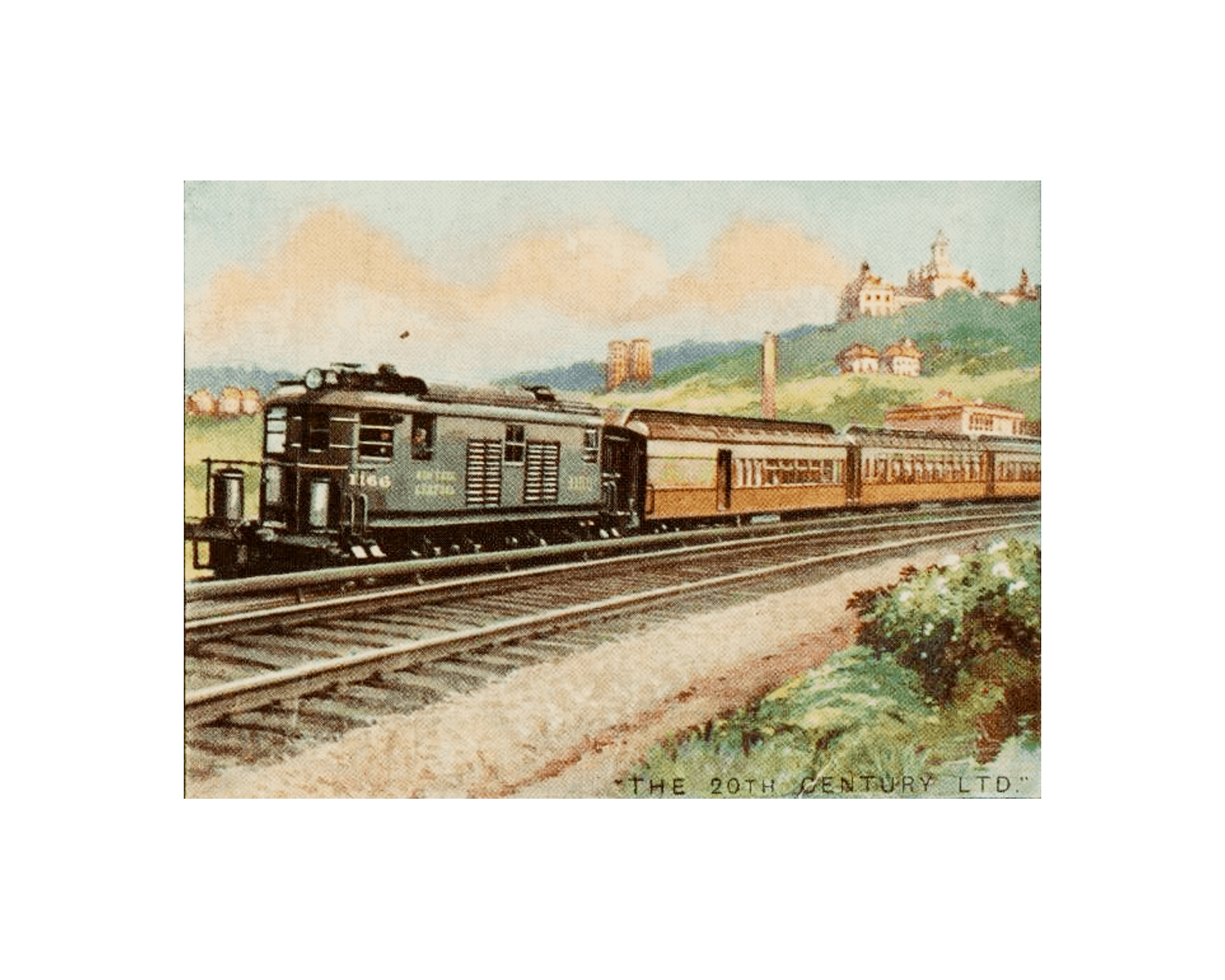 Free Printable Vintage Train Art