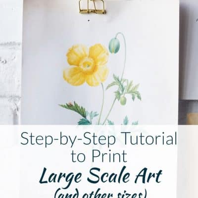 Step-by-Step Tutorial to Print Large Scale Art (and other sizes).